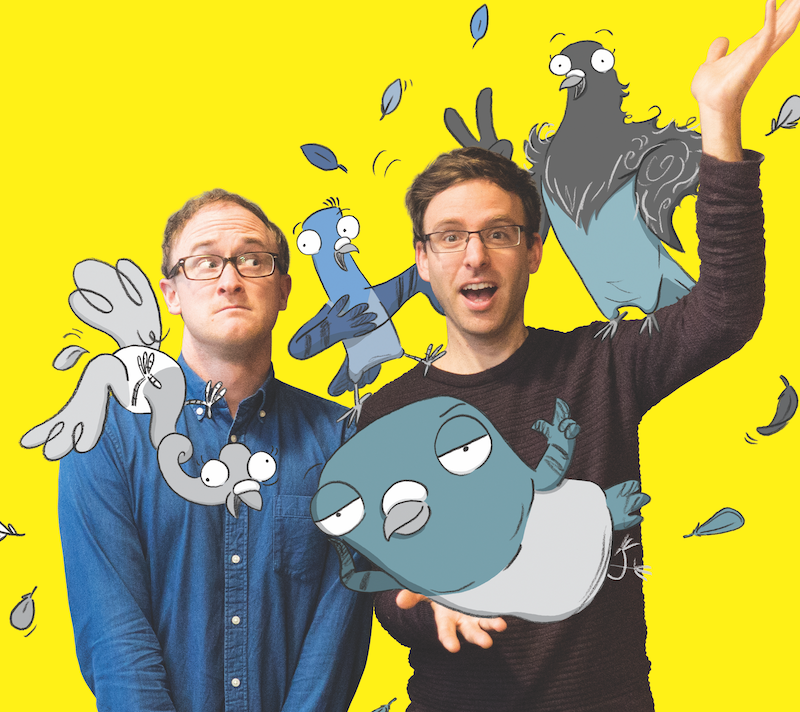 Ben Wood and Andrew McDonald with the Real Pigeons