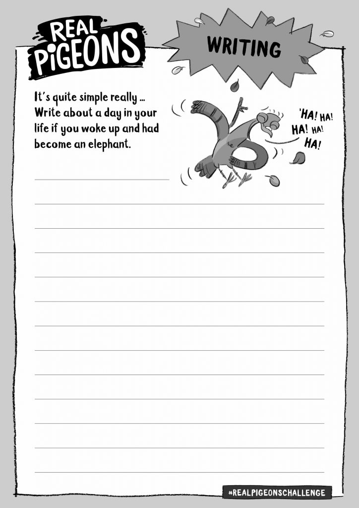 Activity sheet for writing challenge – write a funny story