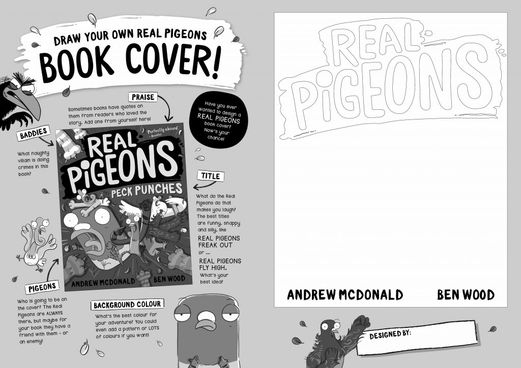 Draw your own Real Pigeons book cover