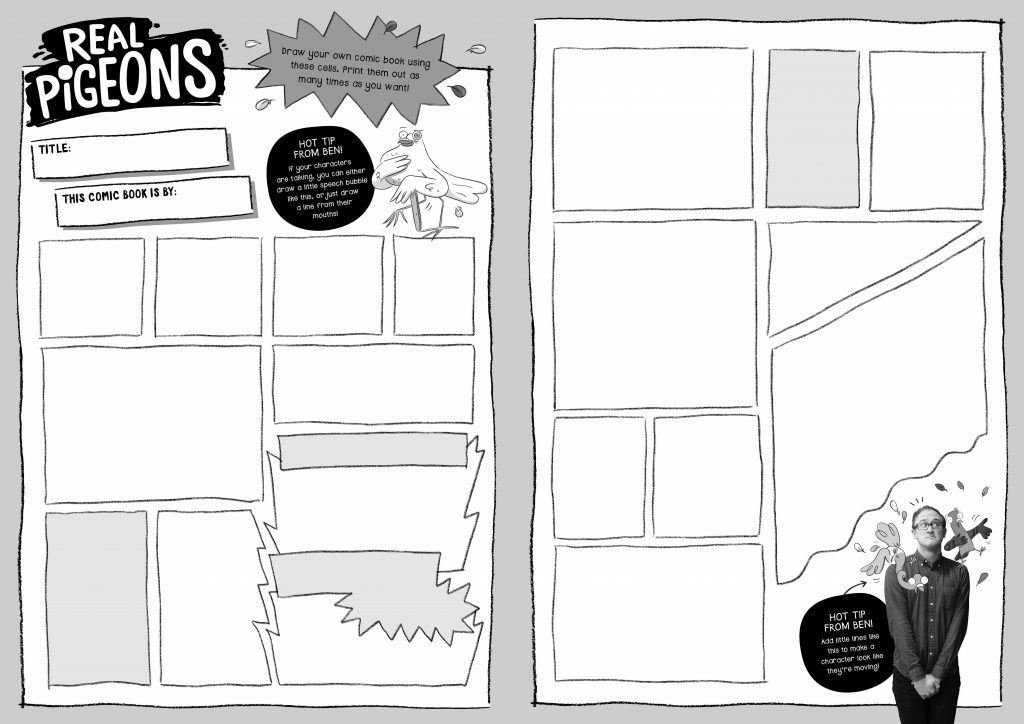 Draw your own comic book | REAL PIGEONS activity